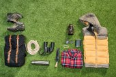 Photo Traveler set, flat lay