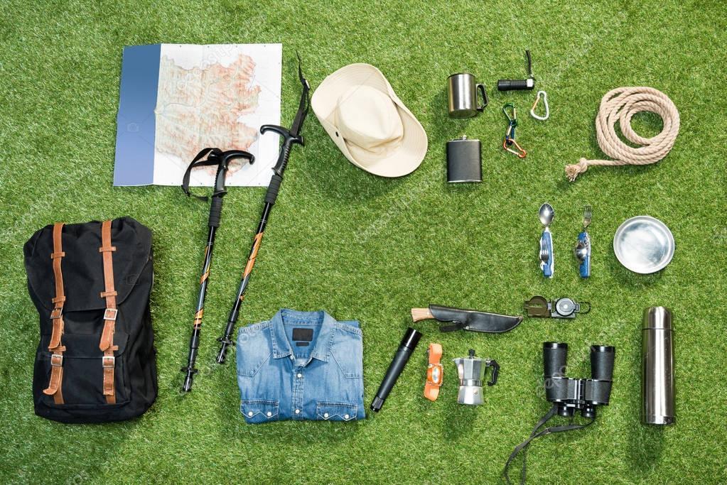 Traveler set, flat lay