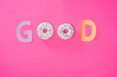 Good word made from donuts