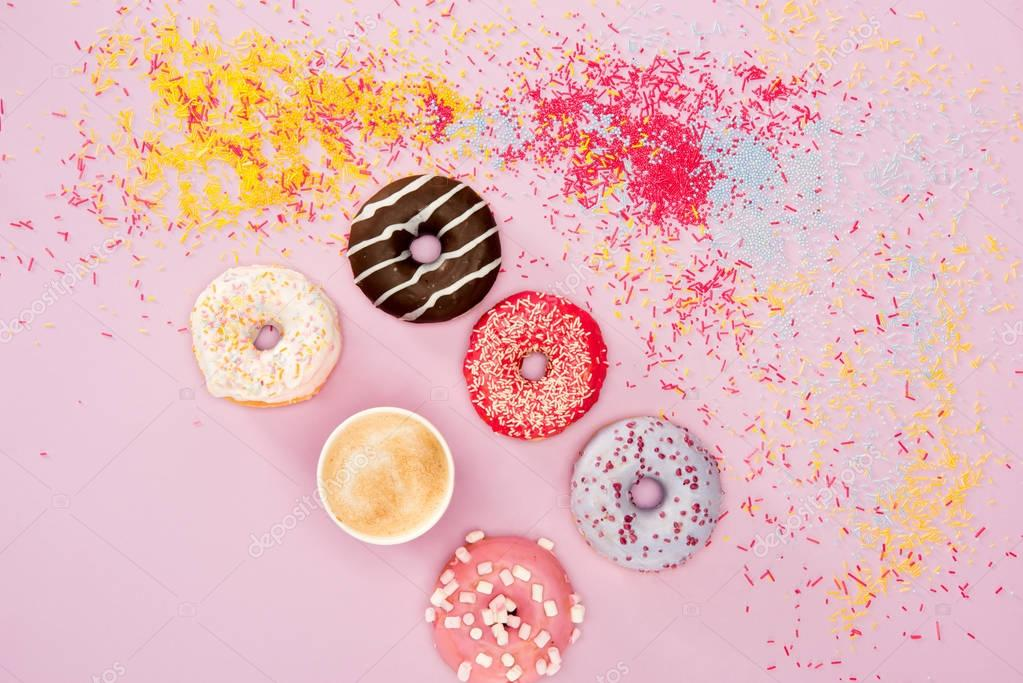 donuts with different sweet glaze