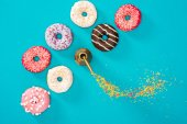 Fotografie food composition with donuts