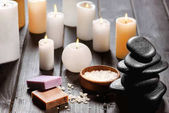 Fotografie Spa stones and candles