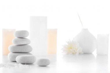 Zen stones and candles
