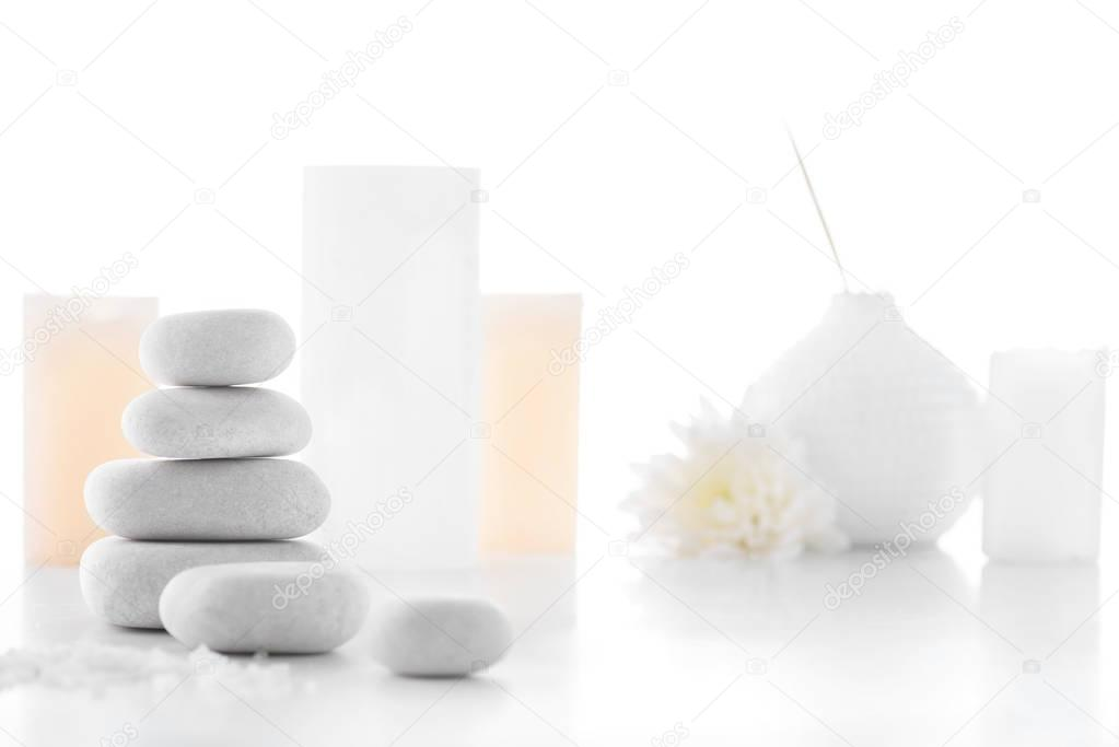 Zen stones and candles