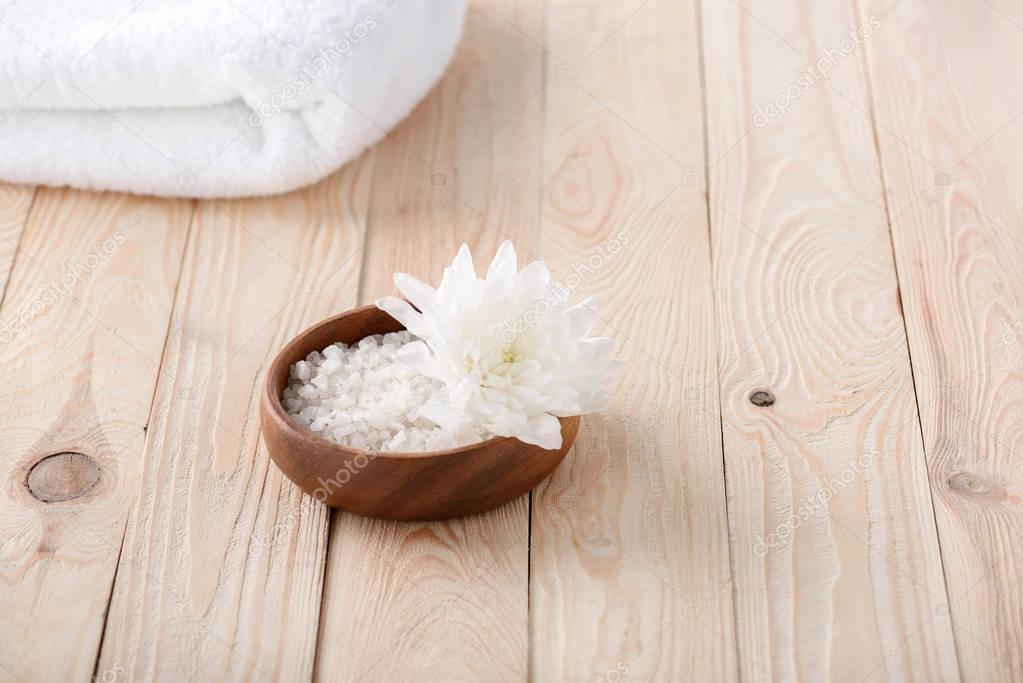 Flower and sea salt
