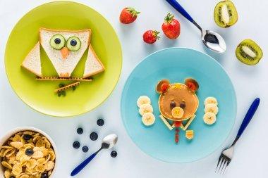 creatively styled children's breakfast