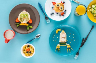creatively styled children's breakfast