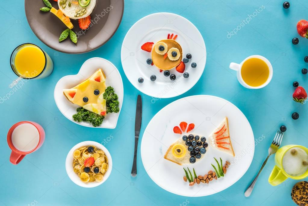 food styling breakfast with various dishes
