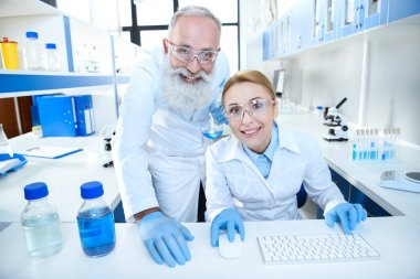 Scientists working in lab 3