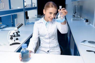 scientist working with reagent