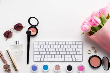 computer keyboard, cosmetics and accessories