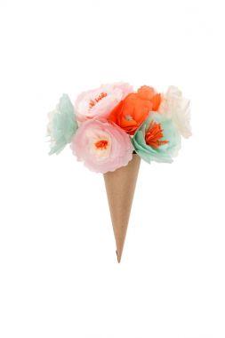 decorative flowers in cone