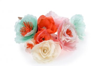 renkli dekoratif çiçek