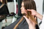 Fotografie junge Frau mit schönen Haaren