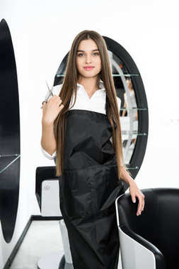 beautiful young hairdresser