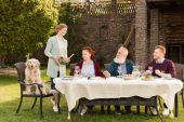 Fotografie Familie zusammen essen