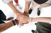Freunde, die Hände Zusammenstellung