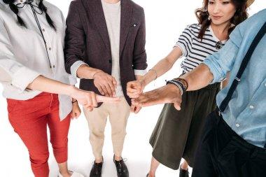 friends playing rock-paper-scissors