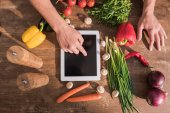 cooking with tablet