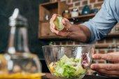 Fotografie Salat machen
