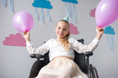 disabled girl at birthday party