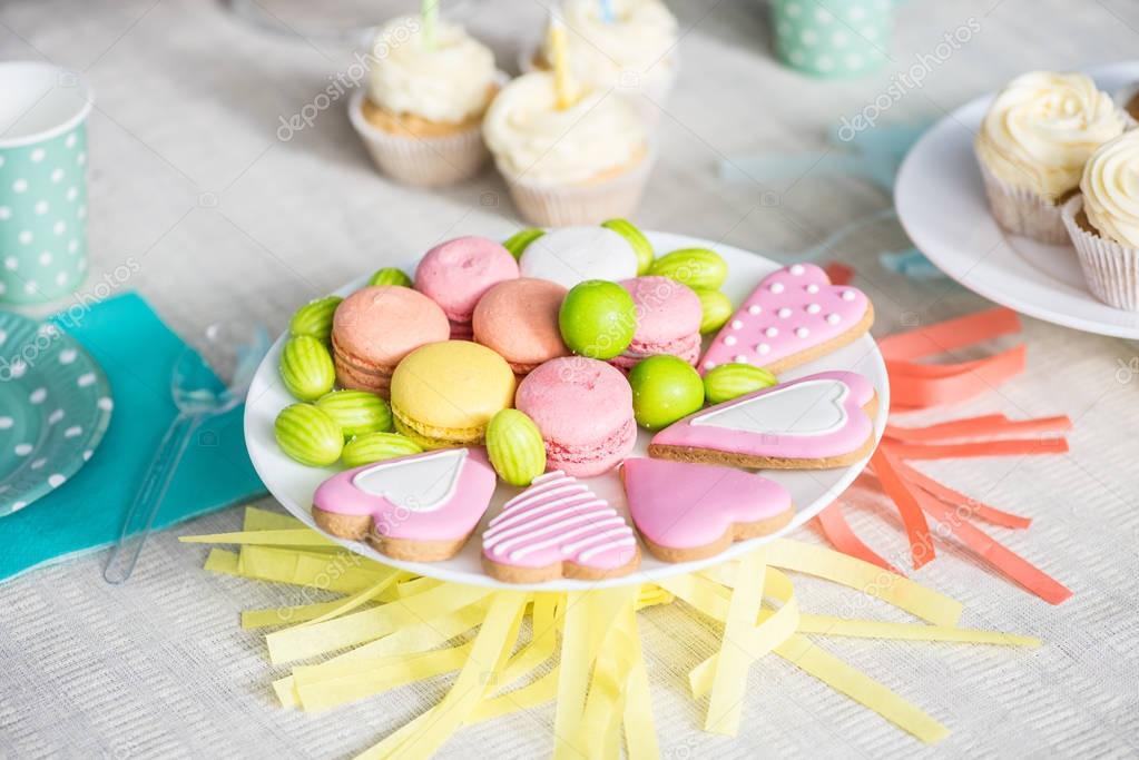 delicious sweets at birthday party