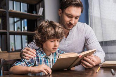 family reading book
