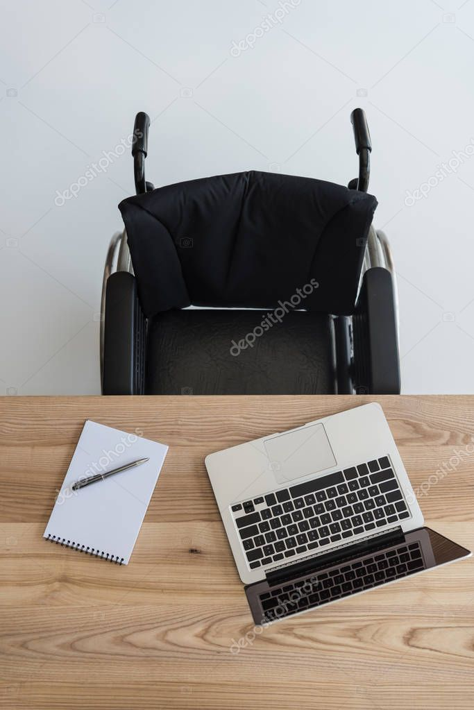 business workplace with laptop