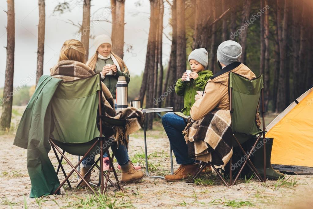 family having camping trip