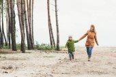 matka a syn společně chodit na přírodu