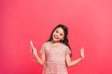 Happy kid with smartphone