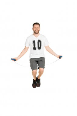 man jumping with skipping rope