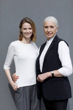 Beautiful young and senior women
