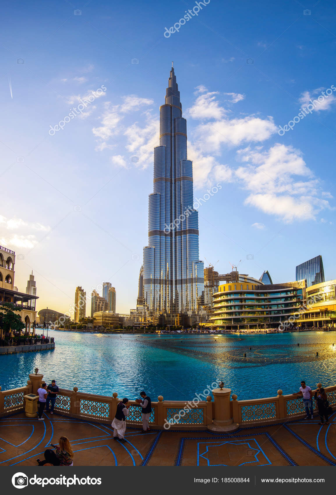 Dubai Emirats Arabes Unis Janvier 2018 Tour Burj Khalifa