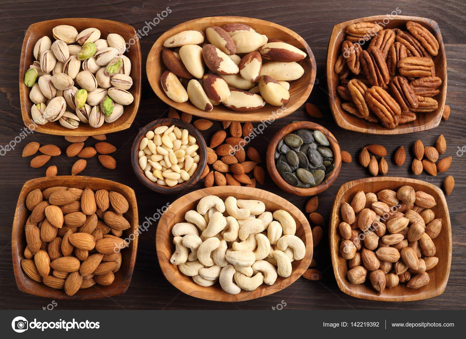 nötter olika sorter