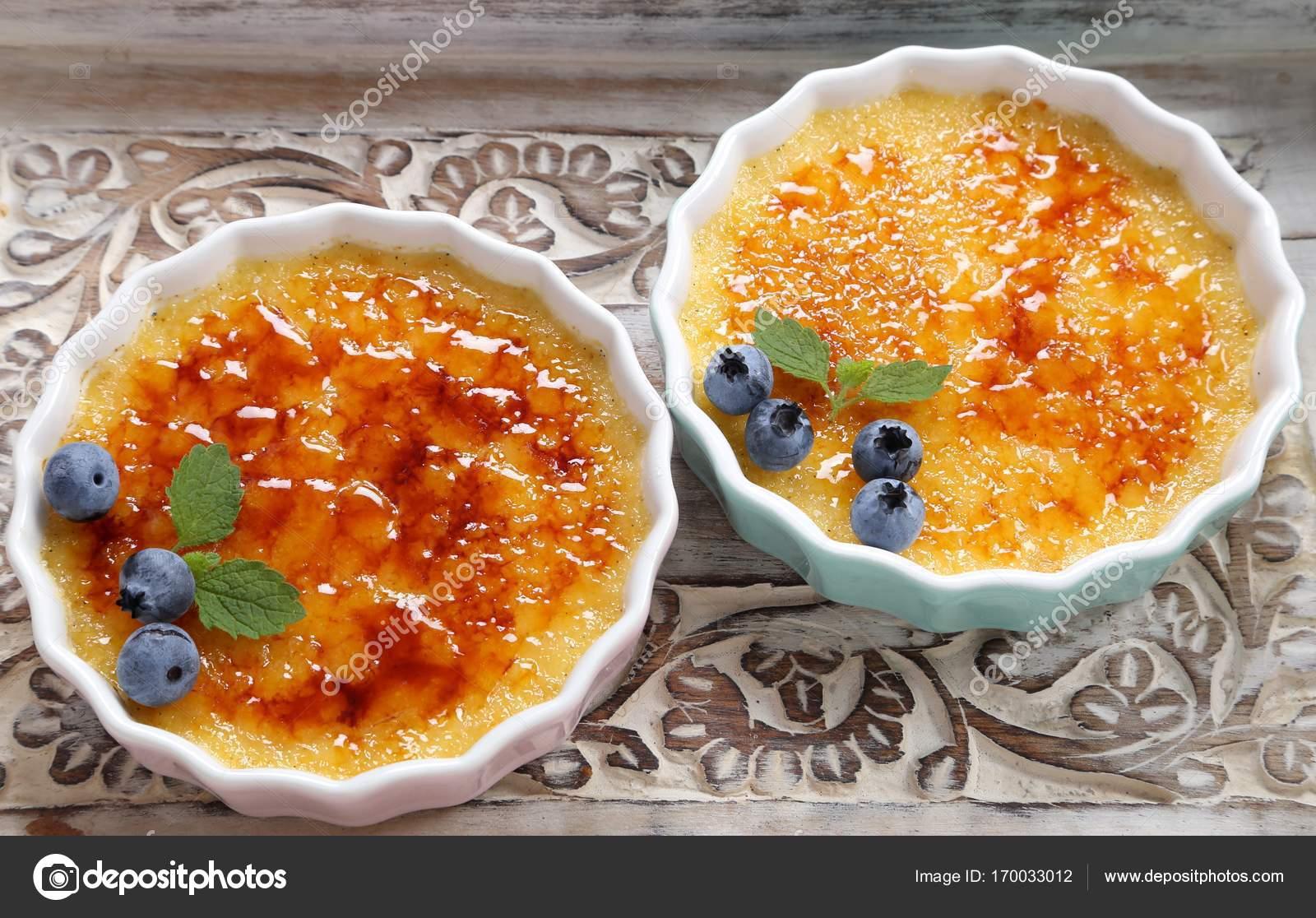 Creme Brulee Traditionelle Franzosische Vanille Creme Dessert Mit