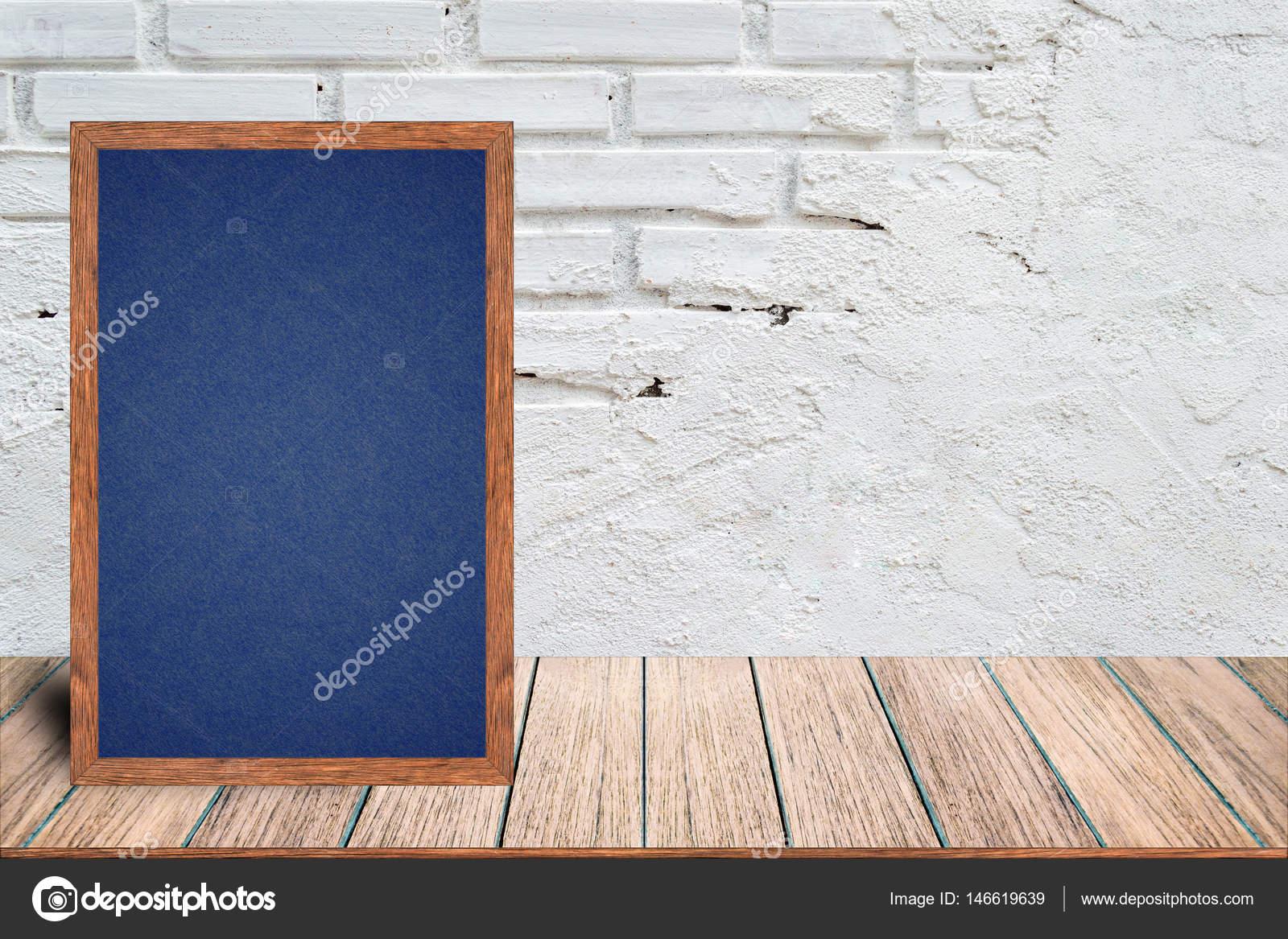 Holzrahmen Tafel, Tafel-Zeichen-Menü — Stockfoto © aioonrak.gmail ...