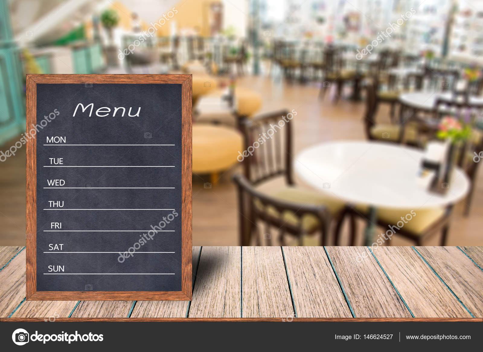 Muestra de pantalla de menú madera — Foto de stock © aioonrak ...