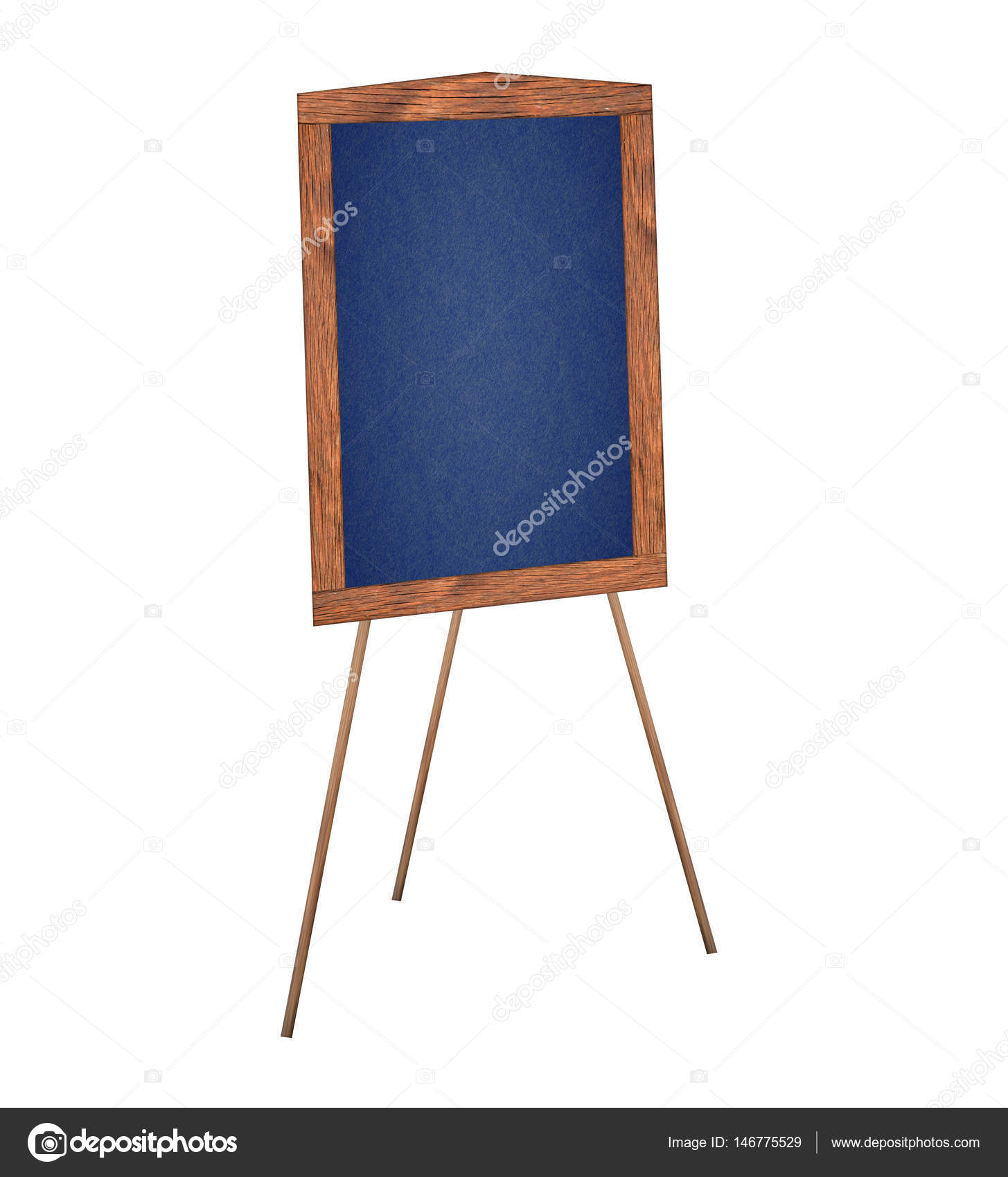 Präsentation-Staffelei zeichnen Tafel, isoliert auf weißem ...
