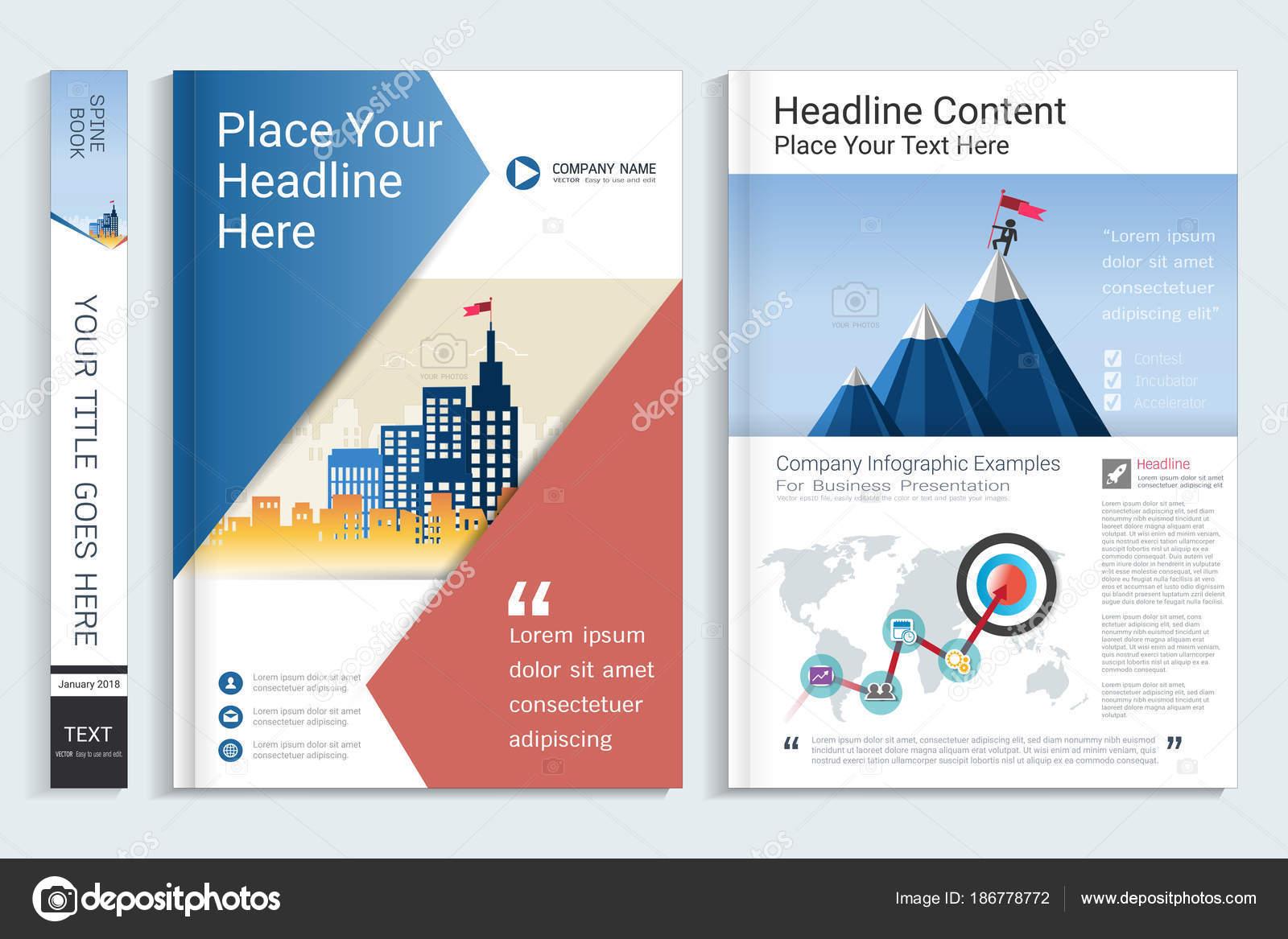Cover Buch Design Vorlage Mit Infografiken Präsentationselemente ...