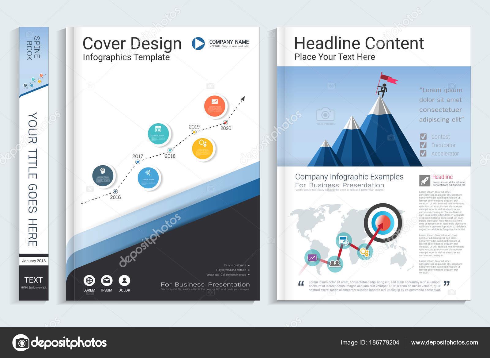 Cubierta Del Libro Plantilla Diseño Con Elementos Infográficos ...