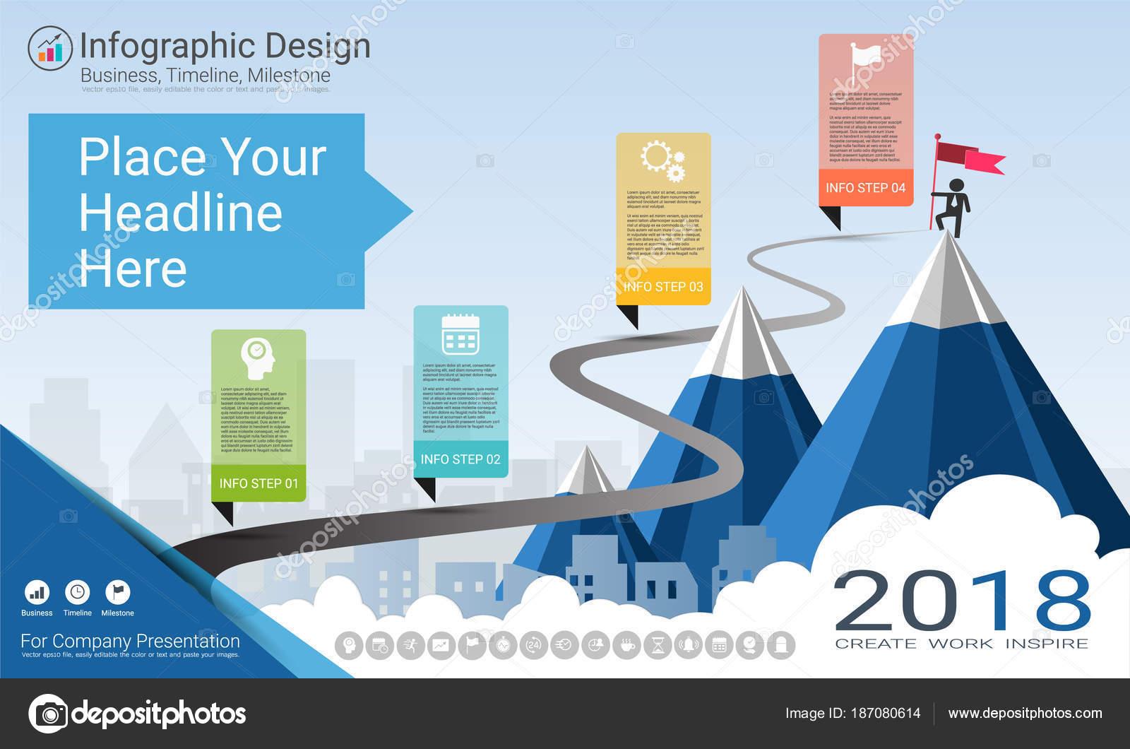 milestone timeline infographic design road map strategic plan define