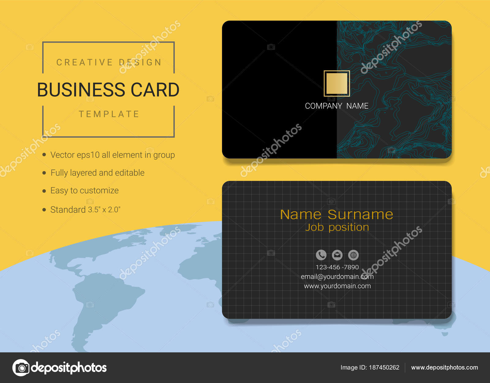 Creative business card name card template simple style also modern creative business card name card template simple style also modern stock vector reheart Images