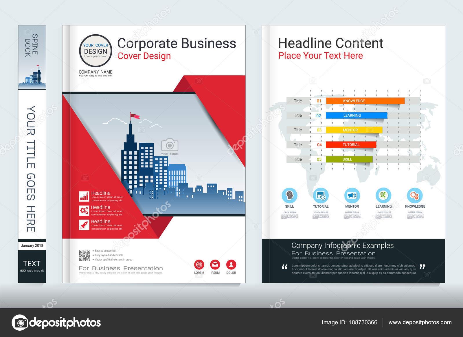 Cover Buch Design Vorlage Mit Geschäft Infografiken Bericht ...