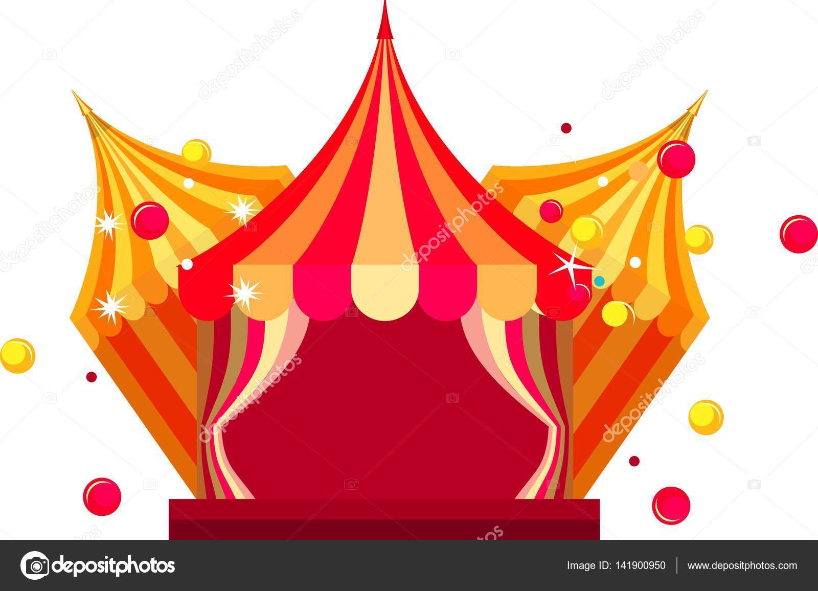 Vector illustration festive circus tents with open curtains to enter on a white background u2014 Vector by marrishuannna  sc 1 st  Depositphotos & circus tent show u2014 Stock Vector © marrishuannna #141900950