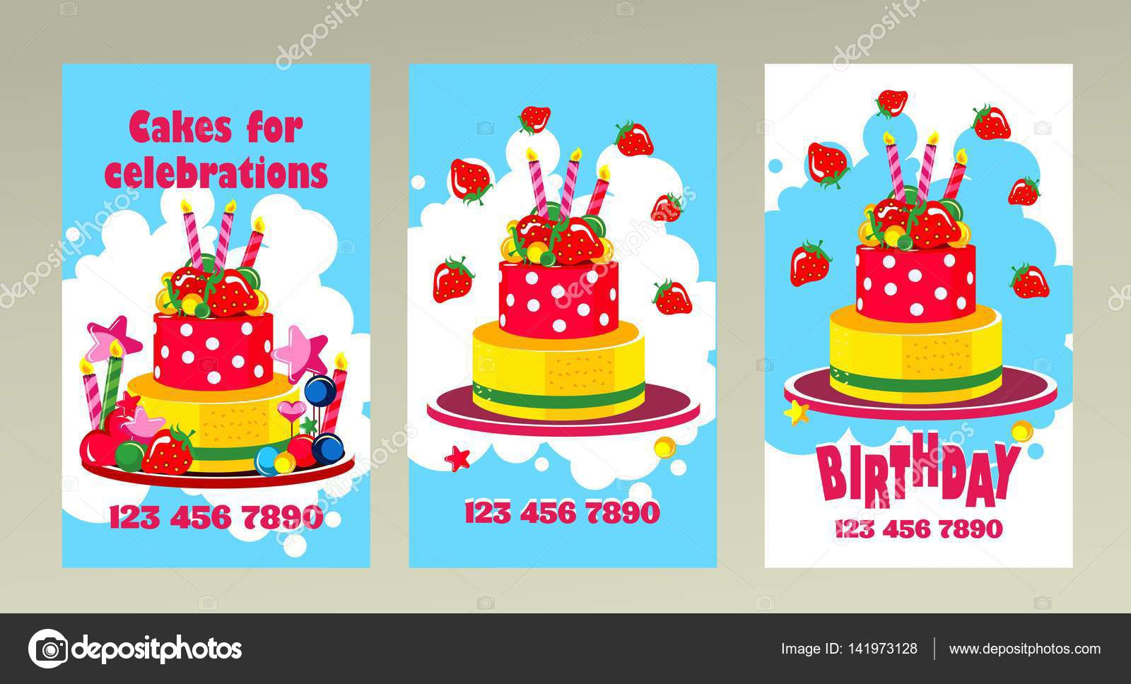 Cake Business Card Stock Vector Marrishuannna 141973128