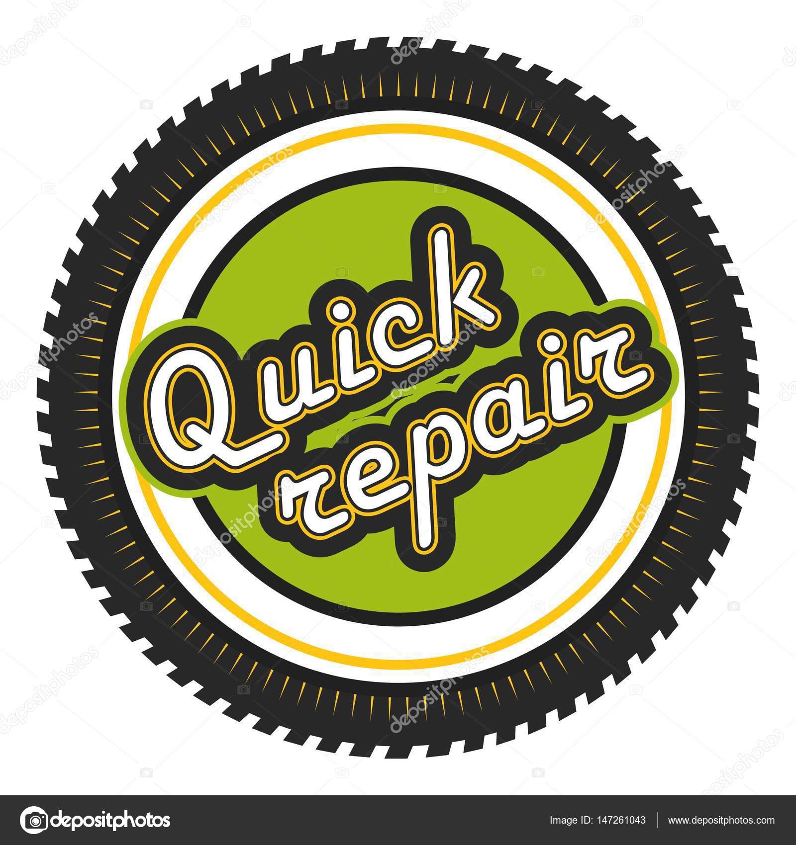 Quick Repair badge — Stock Vector © marrishuannna #147261043