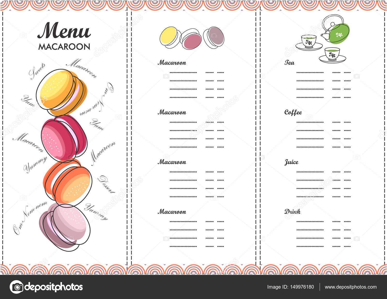 Menü-Design-Vorlage-dessert — Stockvektor © marrishuannna #149976180