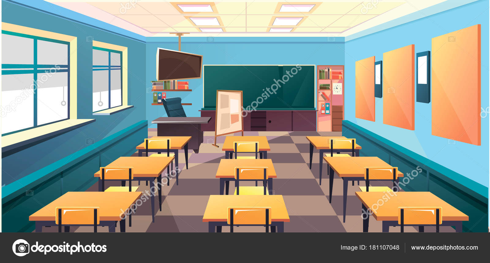 Interno Di Aula Di Scuola