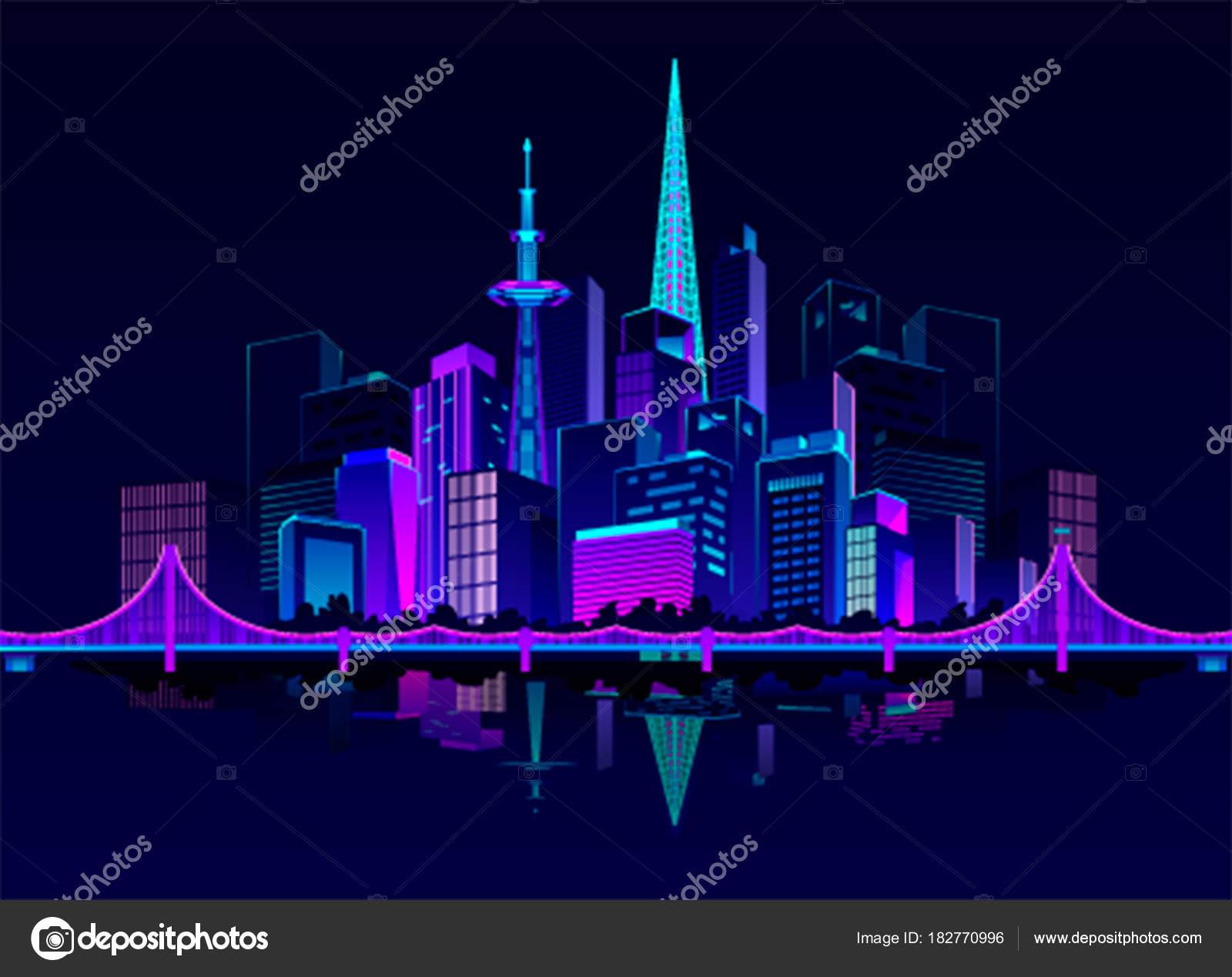 夜のネオン街 ストックベクター Marrishuannna 182770996